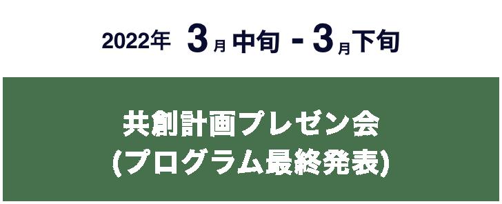 共創計画プレゼン会(プログラム最終発表)